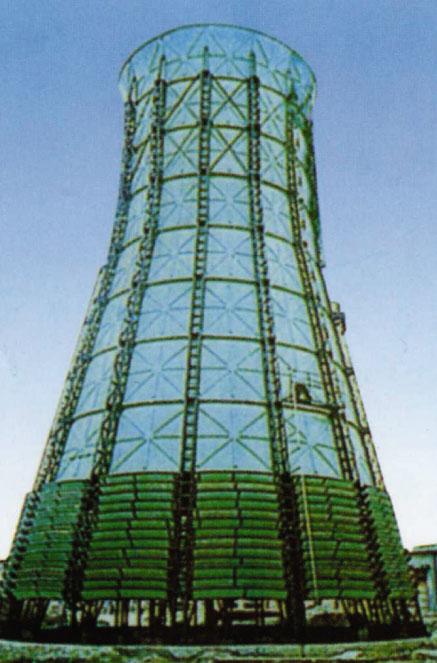 风筒式冷却塔_自然通风风筒式冷却塔